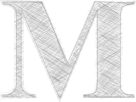 letra m: Freehand tipograf�a de la letra M