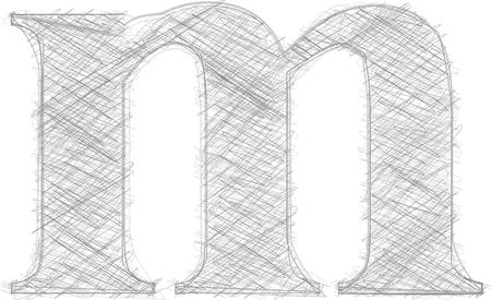 letra m: Freehand Tipograf�a Letra m