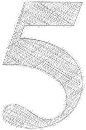 number 5: Freehand Typography Number 5