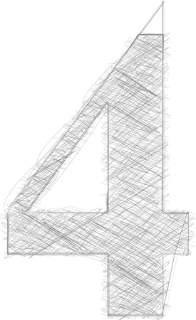 number 4: Freehand Typography Number 4