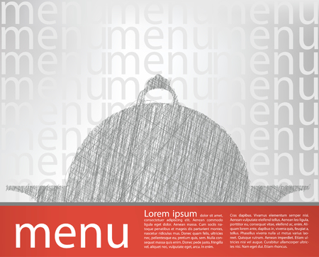 food tray illustration, menu template Vector