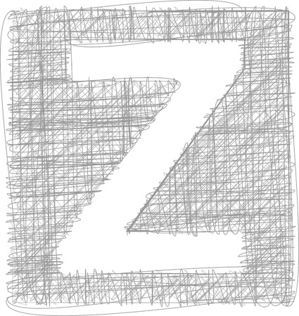 buchstabe z: Freehand Typografie Buchstabe Z