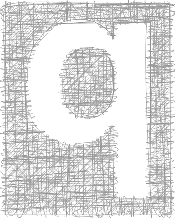 q: Freehand tipografia lettera q
