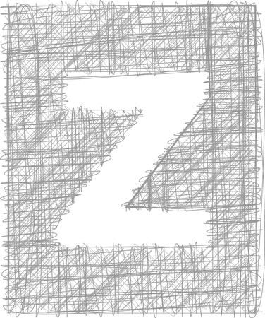 buchstabe z: Freehand Typografie Letter z Illustration