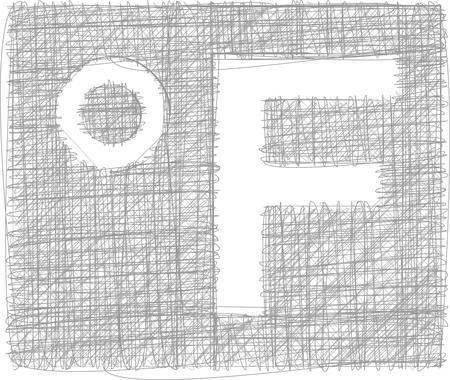 fahrenheit: Fahrenheit °F Freehand Symbol Illustration