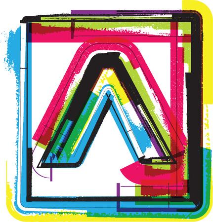 punctuation mark: Colorful Grunge Symbol