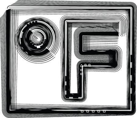 fahrenheit: Fahrenheit Striped Symbol