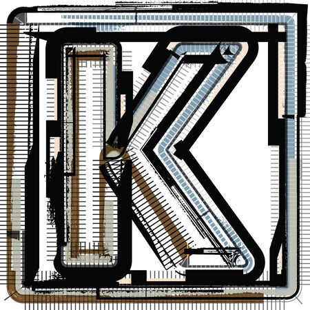 buchstabe k: Grunge Font Buchstabe K