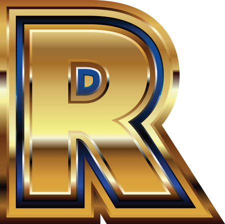 Golden Font Letter R Stock fotó - 30651183
