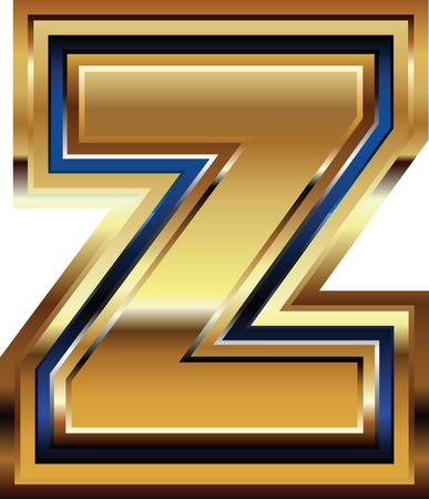 buchstabe z: Goldene Schrift Buchstabe Z