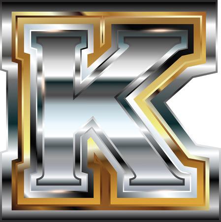 buchstabe k: Fancy Schrift Buchstabe K