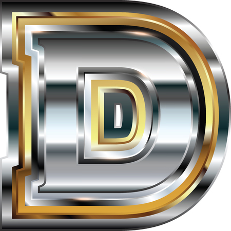 letter d: Fancy font Letter D Illustration
