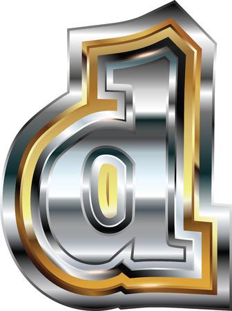 letter d: Fancy font Letter d