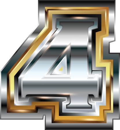 number 4: Fancy font Number 4