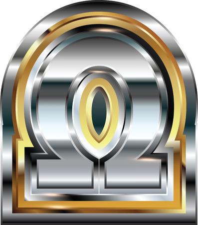 alphabet greek symbols: Fancy omega symbol