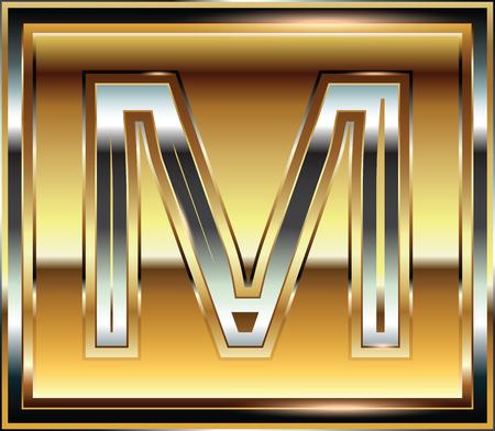 letra m: Ilustraci�n Lingote de fuente de la letra M