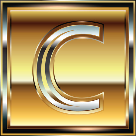 alphabetic: Ingot Font illustration Letter C Illustration