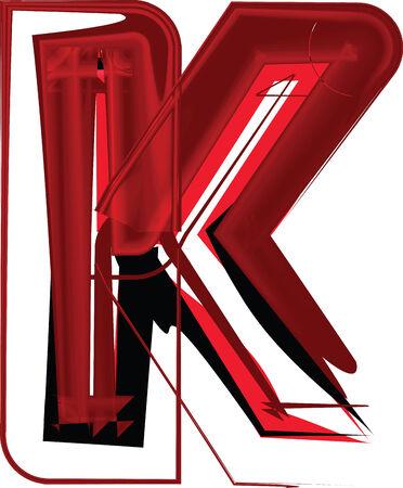 buchstabe k: K�nstlerische Schriftart Buchstaben K