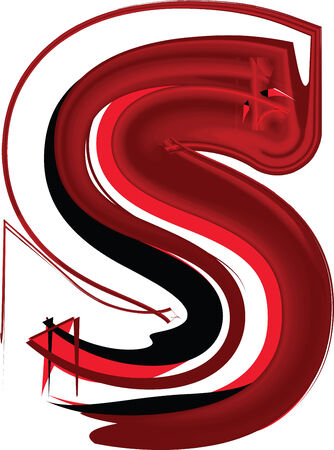 Artistic font letter S Vector