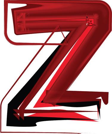 buchstabe z: K�nstlerische font Buchstaben Z