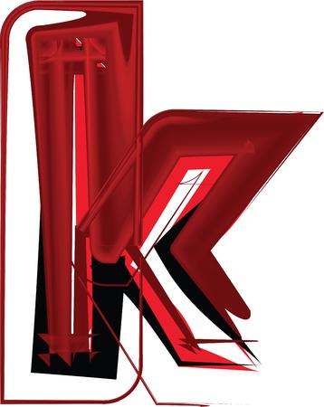 buchstabe k: K�nstlerische font letter k Illustration