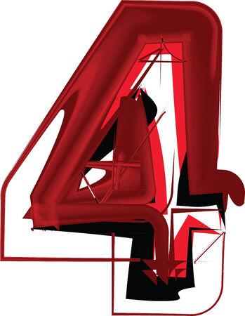 number 4: Artistic font number 4