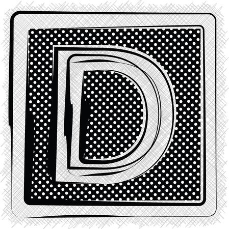 letter d: Polka Dot Font LETTER D