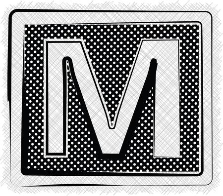 letra m: Lunares fuente de la letra M Vectores
