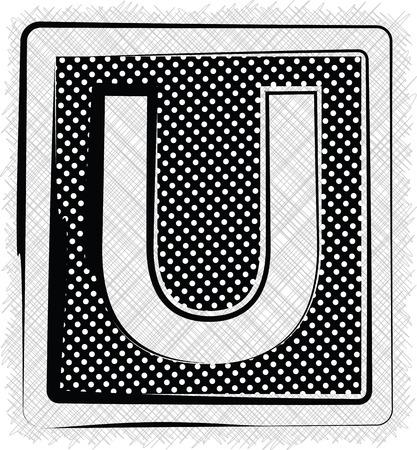 Polka Dot Font LETTER U