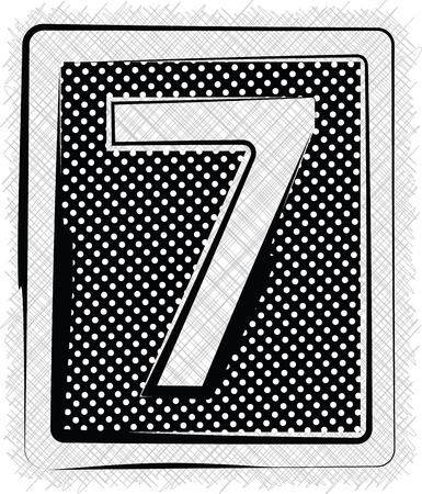 number 7: Polka Dot Font NUMBER 7