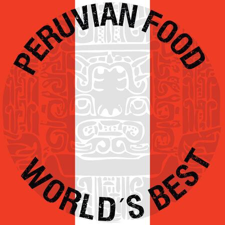 Peruvian food illustration