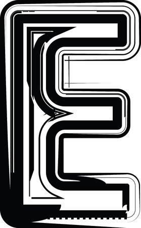 letter e: Abstract Letter E