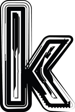 buchstabe k: Abstrakte Buchstabe k