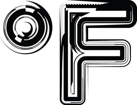 fahrenheit: Abstract Fahrenheit Symbol