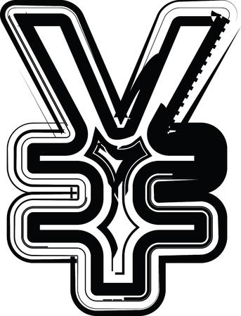 yen sign: Muestra de Yenes Resumen Vectores
