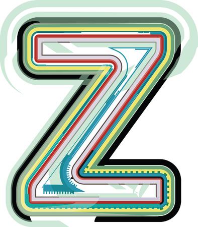 buchstabe z: Abstrakter bunter Buchstabe Z