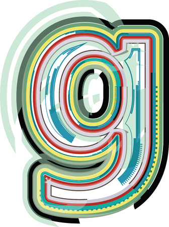 letter g: Abstract colorful Lettera g