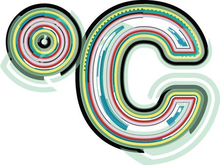 celcius: Abstract colorful celcius symbol