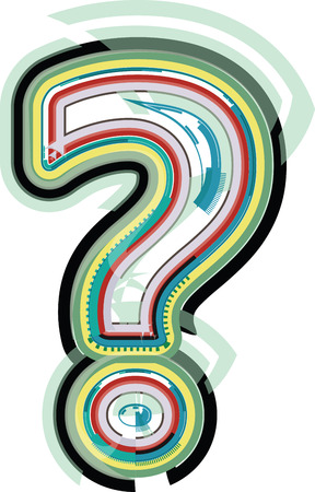 questionable: Abstract colorful Question Mark Illustration