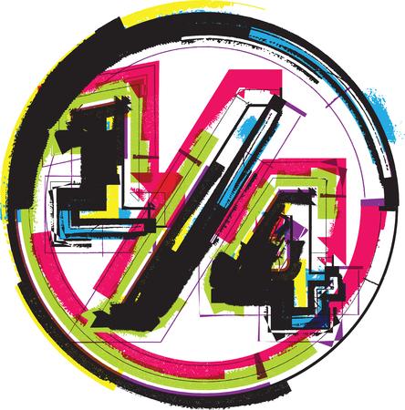 colorful grunge: Colorful Grunge Symbol
