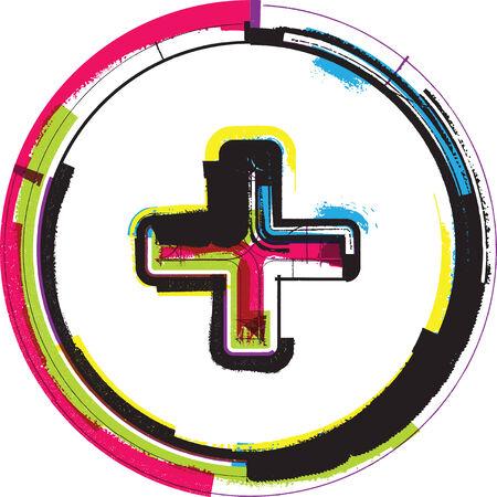 mathematical operation: Colorful Grunge Symbol