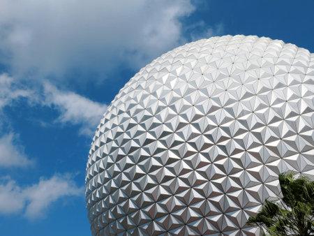 ORLANDO, FL - FEB 2015: Disney Epcot Space Ship Earth, Disney World February 10, 2015 in Orlando, Florida.