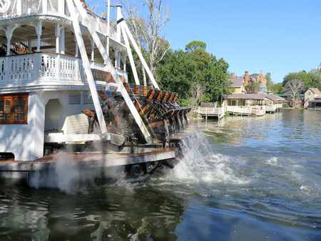 belle: Liberty Belle Ship at Magic Kingdom in the day on February 11, 2015 in Orlando - Florida Editorial