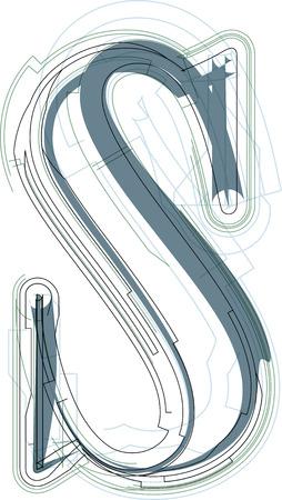 uppercase: Font illustration uppercase LETTER S