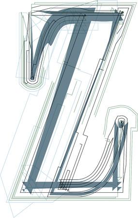 buchstabe z: Font illustration Gro�buchstabe Z