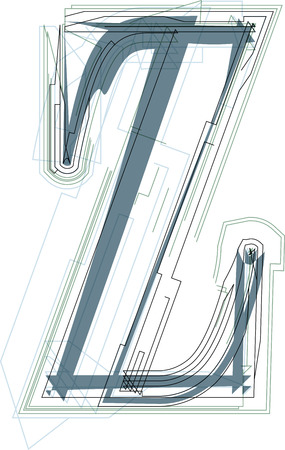 uppercase: Font illustration uppercase LETTER Z
