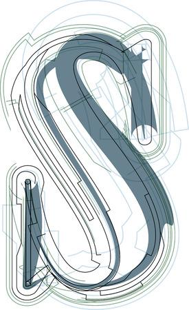 lettre s: Font illustration minuscules lettre S