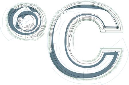 celcius: Abstract celcius sign vector illustration Illustration