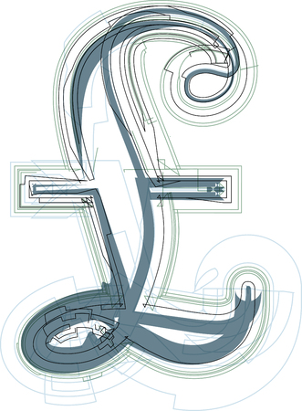 pound sign: Abstract Pound sign vector illustration
