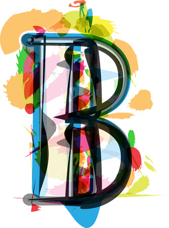 Artistic Font vector Illustration - Letter B